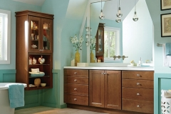 Homecrest Cherry Cabinets in Bathroom